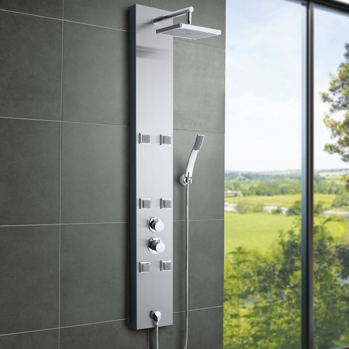 Ultra easton shower tower as374 thermostatic for Shower tower with body jets