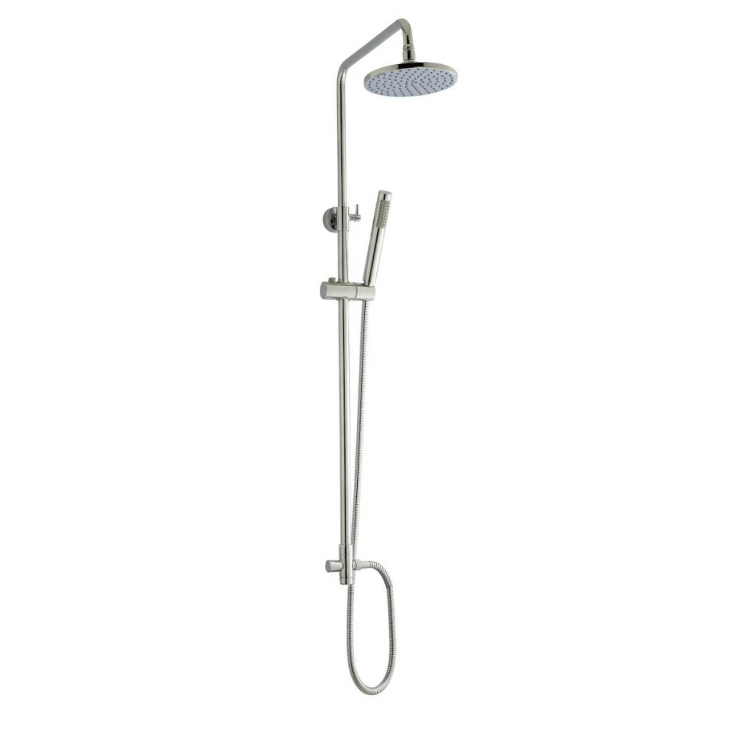 Ultra TMV2 Minimalist Thermostatic Bar Shower Mixer with Shower Kit + Fixed Head - Chrome