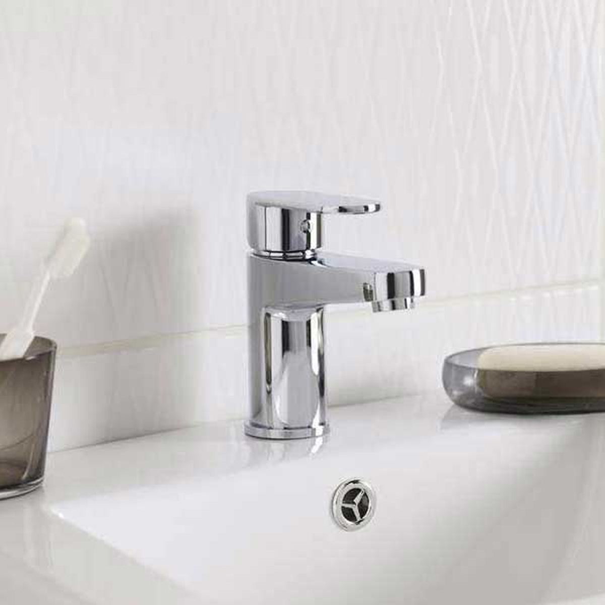 Ultra Ratio Mono Basin Mixer Tap and Bath Filler Tap, Chrome-0