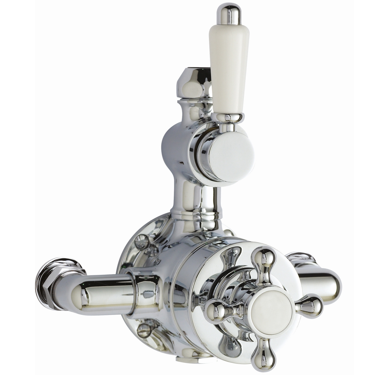 Ultra Traditional Dual Exposed Mixer Shower with Shower Kit + Fixed Head-1