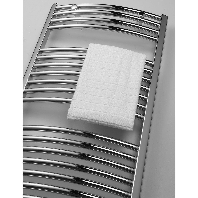 Ultraheat Chelmsford Curved Heated Towel Rail 1172mm H x 600mm W - Chrome