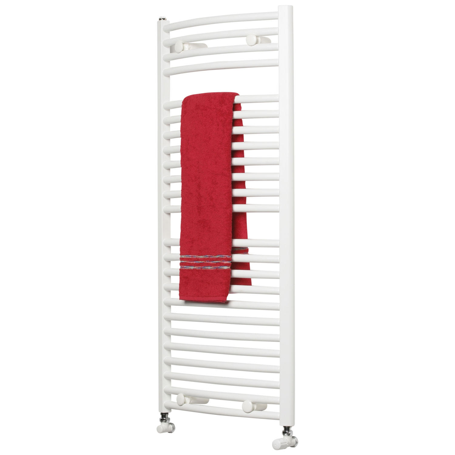 Ultraheat Chelmsford Curved Heated Towel Rail 1750mm H x 750mm W - White