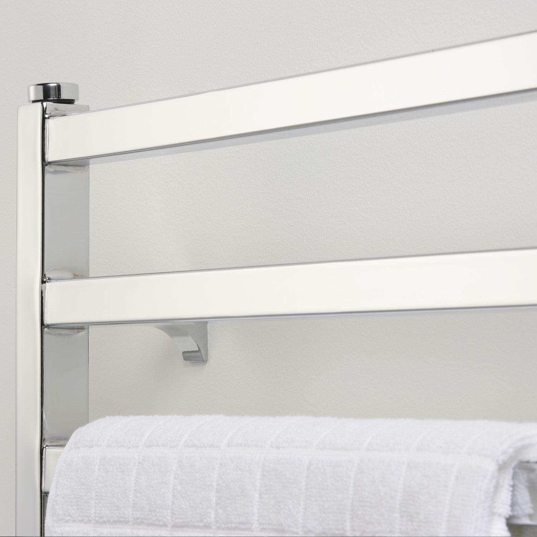 Ultraheat Karnak Straight Heated Towel Rail 1700mm H x 500mm W - White