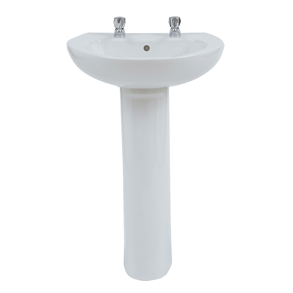Verona Access Complete Bathroom Suite Package (2 Tap Hole Basin)