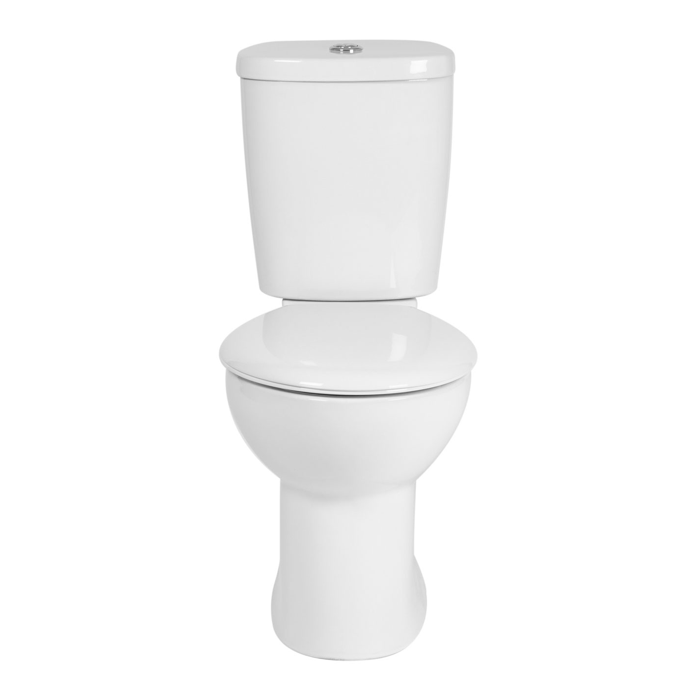 Verona Access Close Coupled Toilet WC Push Button Cistern - Soft Close Seat