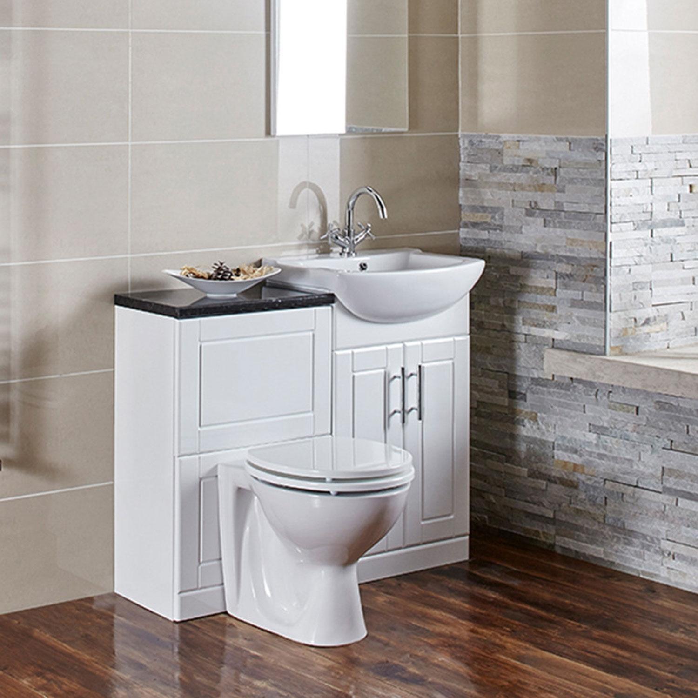 Verona Aquachic WC Unit Excluding Toilet Pan 500mm W X 775mm H - High Gloss White