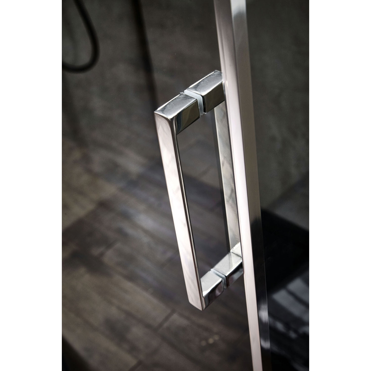 Verona Aquaglass+ Pola Sliding Shower Door 1400mm Wide - 8mm Clear Glass