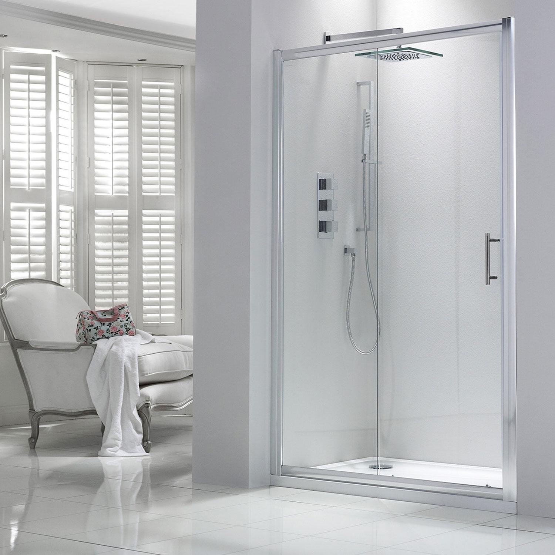 Verona Aquaglass Purity Sliding Shower Door 1600mm Wide - 6mm Glass