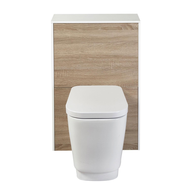 Verona Aquanatural Bathroom Furniture Suite 750mm Wide - Gloss/Wood Effect-1