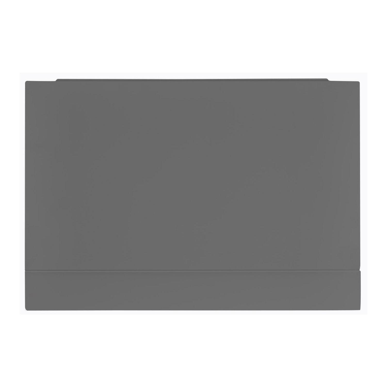 Verona Aquapure 800mm Wide Wooden End Bath Panel - Dust Grey