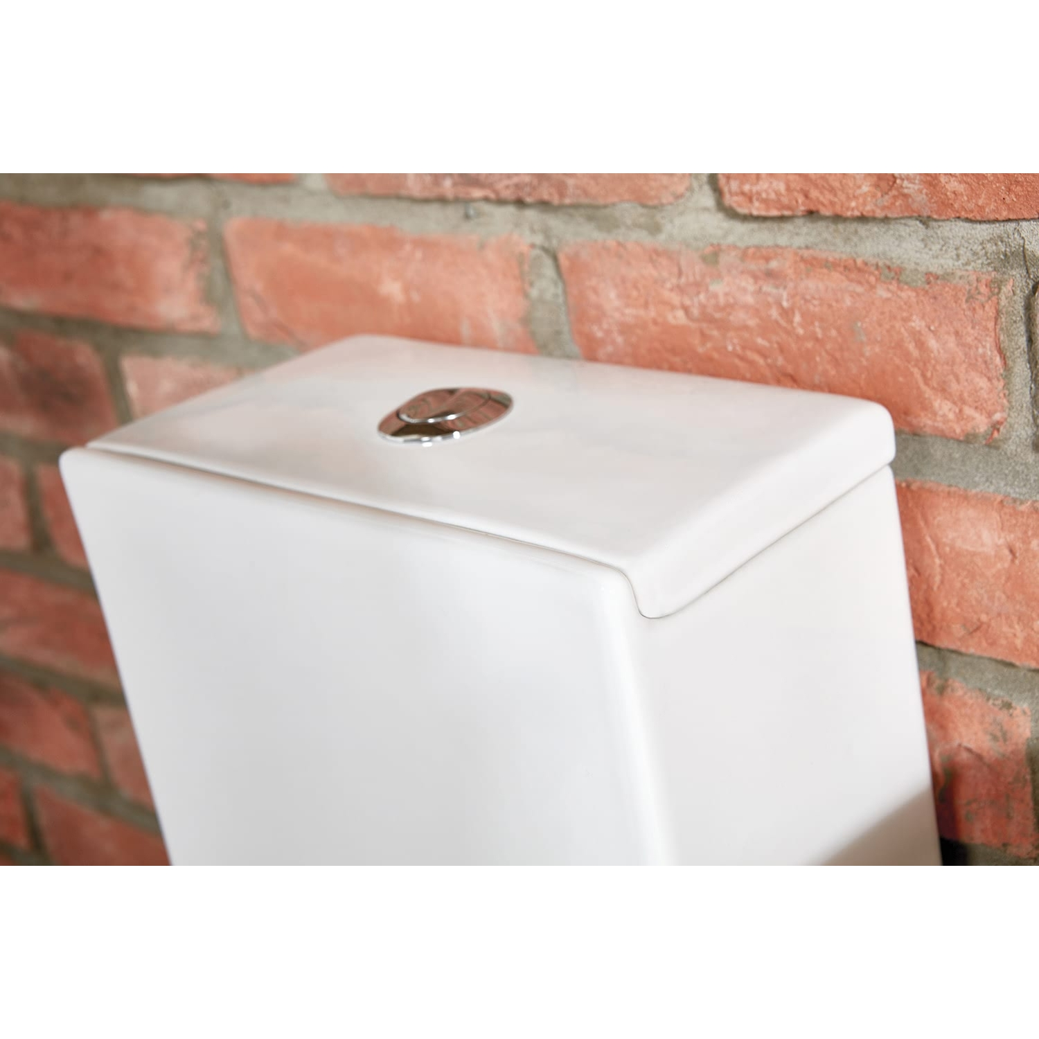 Verona Bellisi Aquaceramica Close Coupled Toilet WC Push Button Cistern - Soft Close Seat
