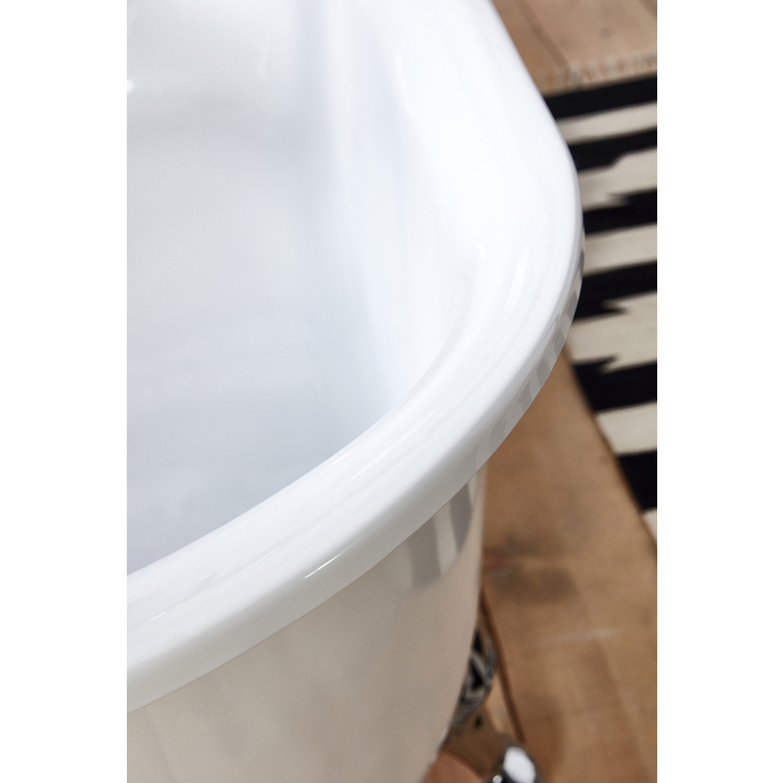 Verona Belmont Freestanding Slipper Bath with Chrome Ball Feet 1520mm x 710mm - White-3