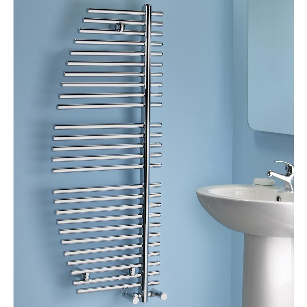 Verona Burj Designer Heated Towel Rail 1200mm H x 500mm W - Chrome