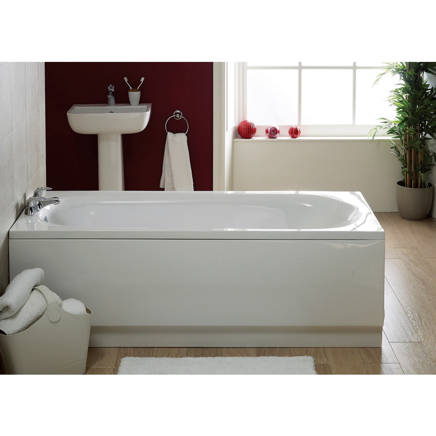 Verona Caymen Single Ended Rectangular Bath 1600mm x 700mm - 0 Tap Hole-0