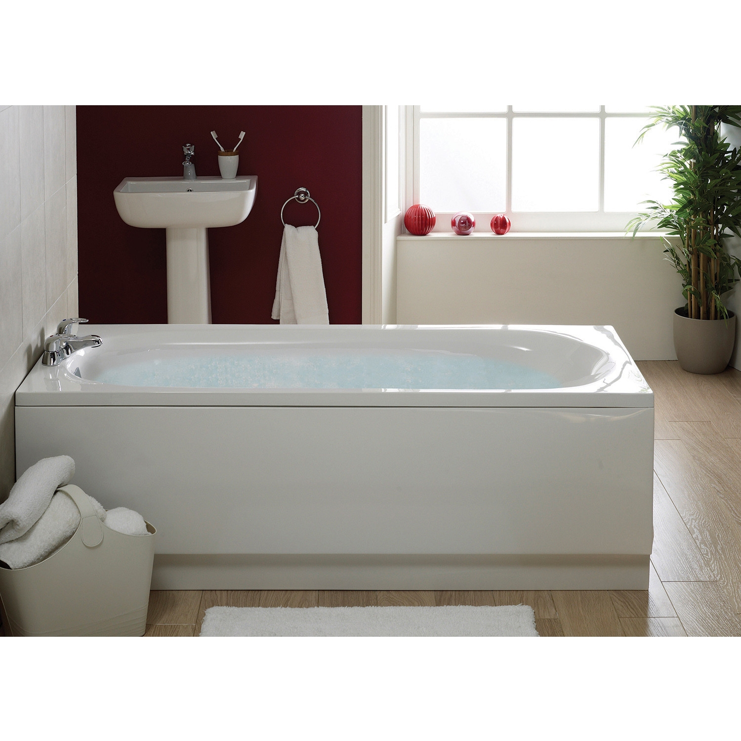 Verona Caymen Single Ended Rectangular Bath 1600mm x 700mm - 0 Tap Hole-1