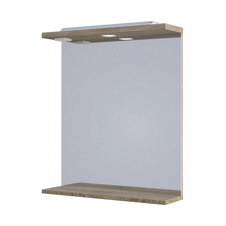 Verona Bathroom Mirror 750mm H x 650mm W - Bordeaux Oak