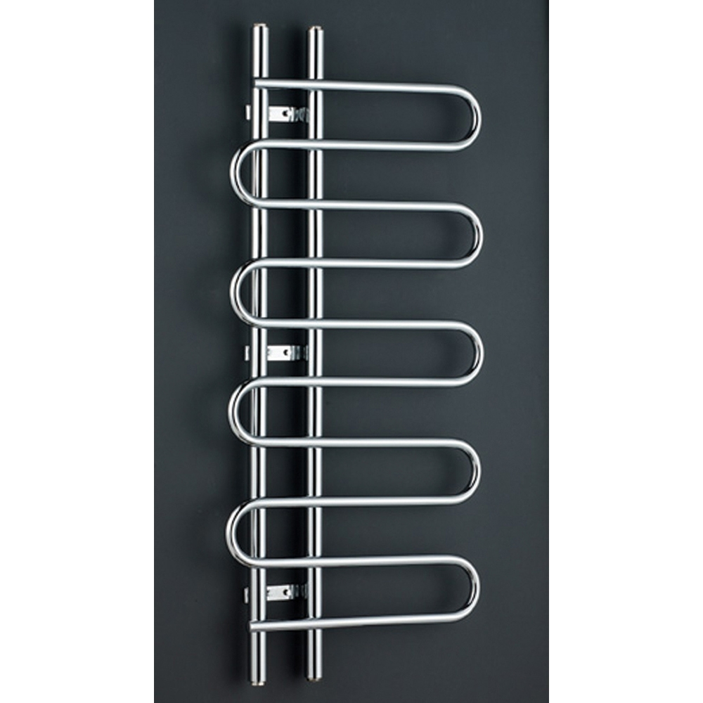 Verona Cool Designer Heated Towel Rail 1100mm H x 500mm W - Chrome