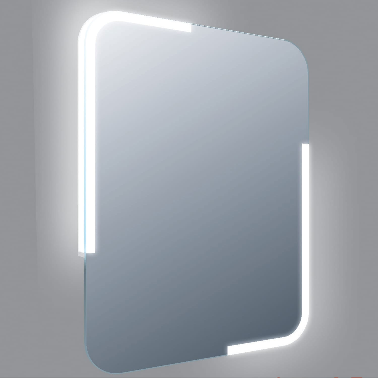 Verona Curve LED Bathroom Mirror with Touch Sensor and Demister 800mm H x 600mm W