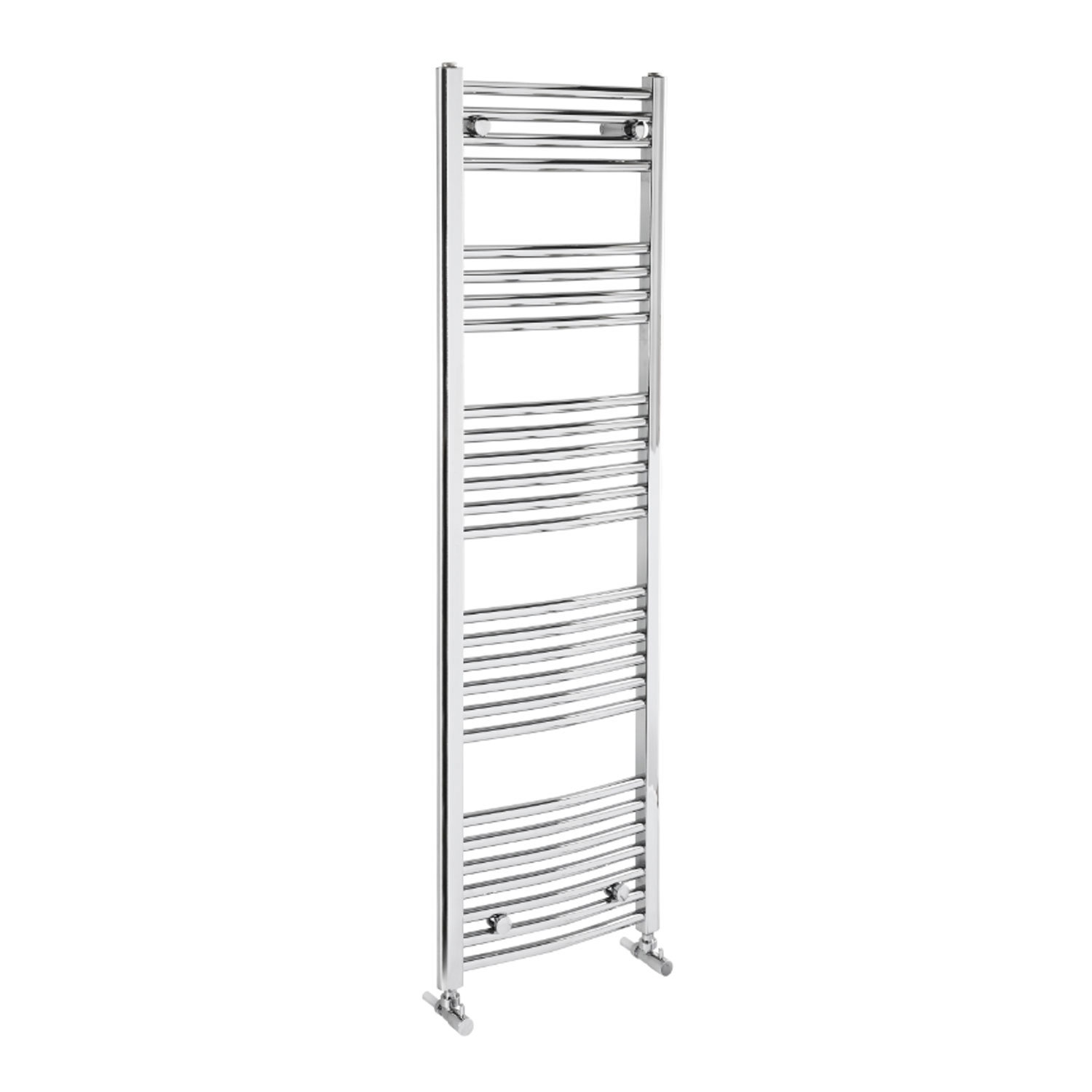 Verona Curved Designer Heated Towel Rail 1500mm H x 600mm W Chrome