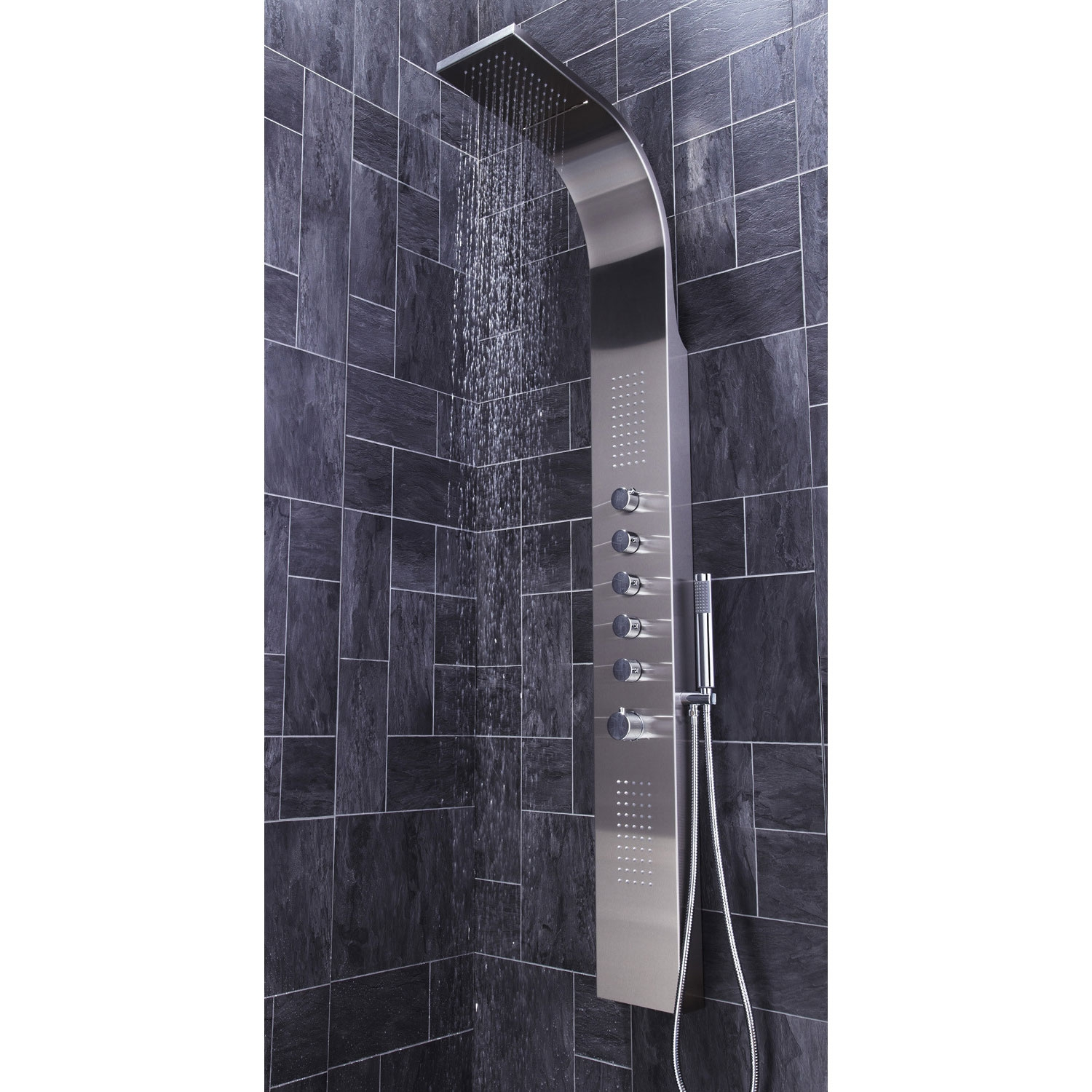 Verona Dharma Thermostatic Shower Panel 2 Built-in Body Jets with Shower Hand-0