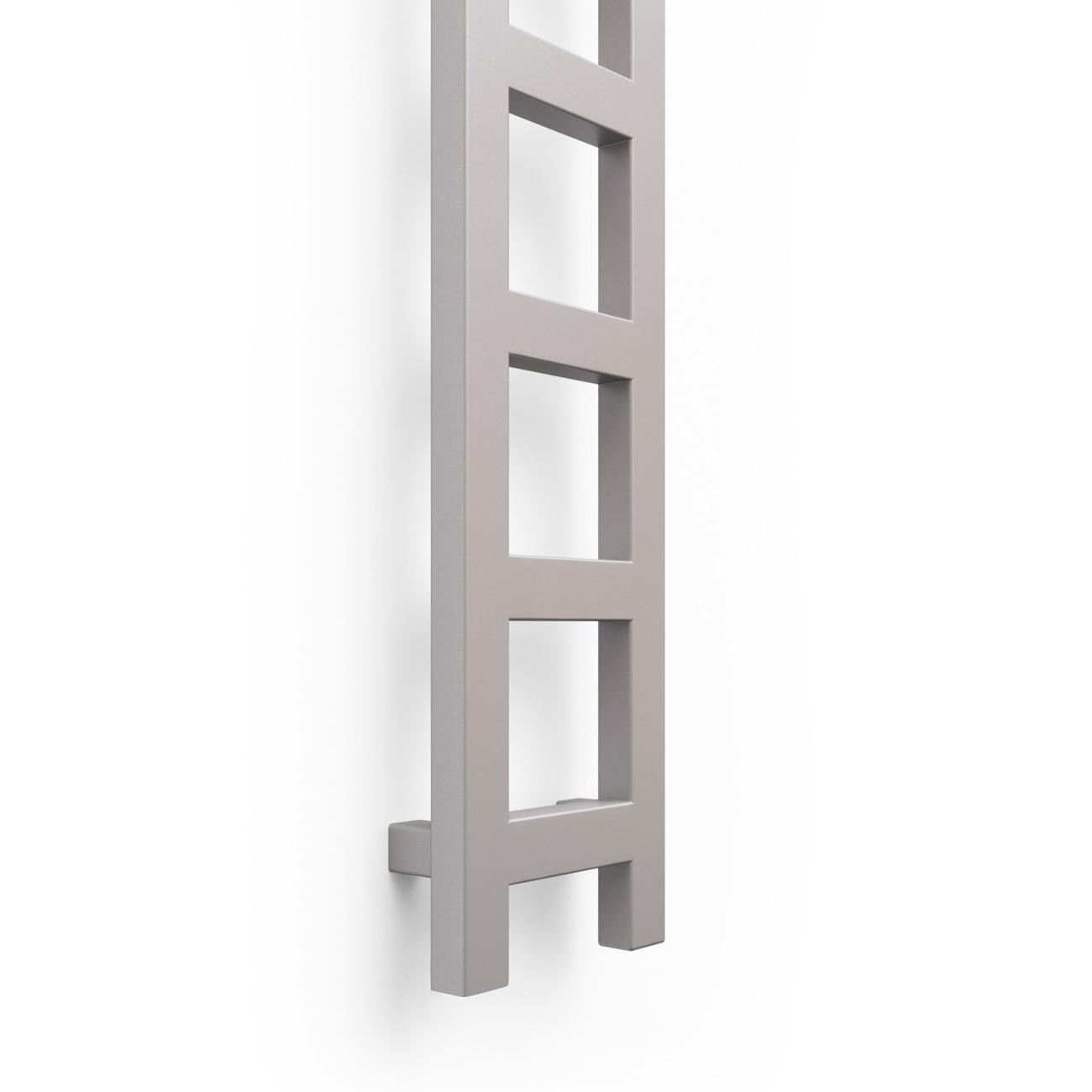 Verona Easy Designer Heated Ladder Towel Rail 1600mm H x 200mm W - Sparkling Gravel