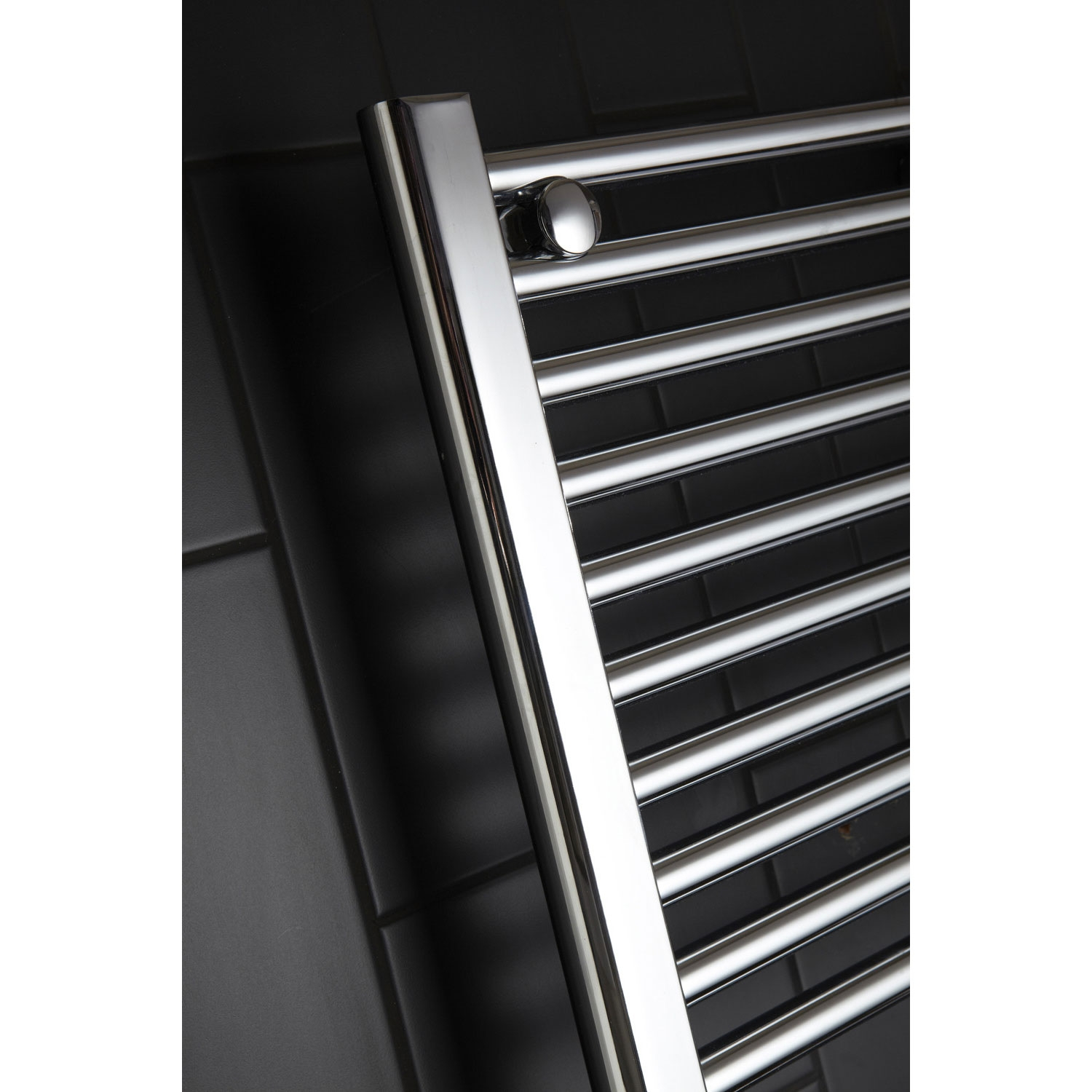Verona Flat Designer Heated Towel Rail 1100mm H x 450mm W Chrome-1
