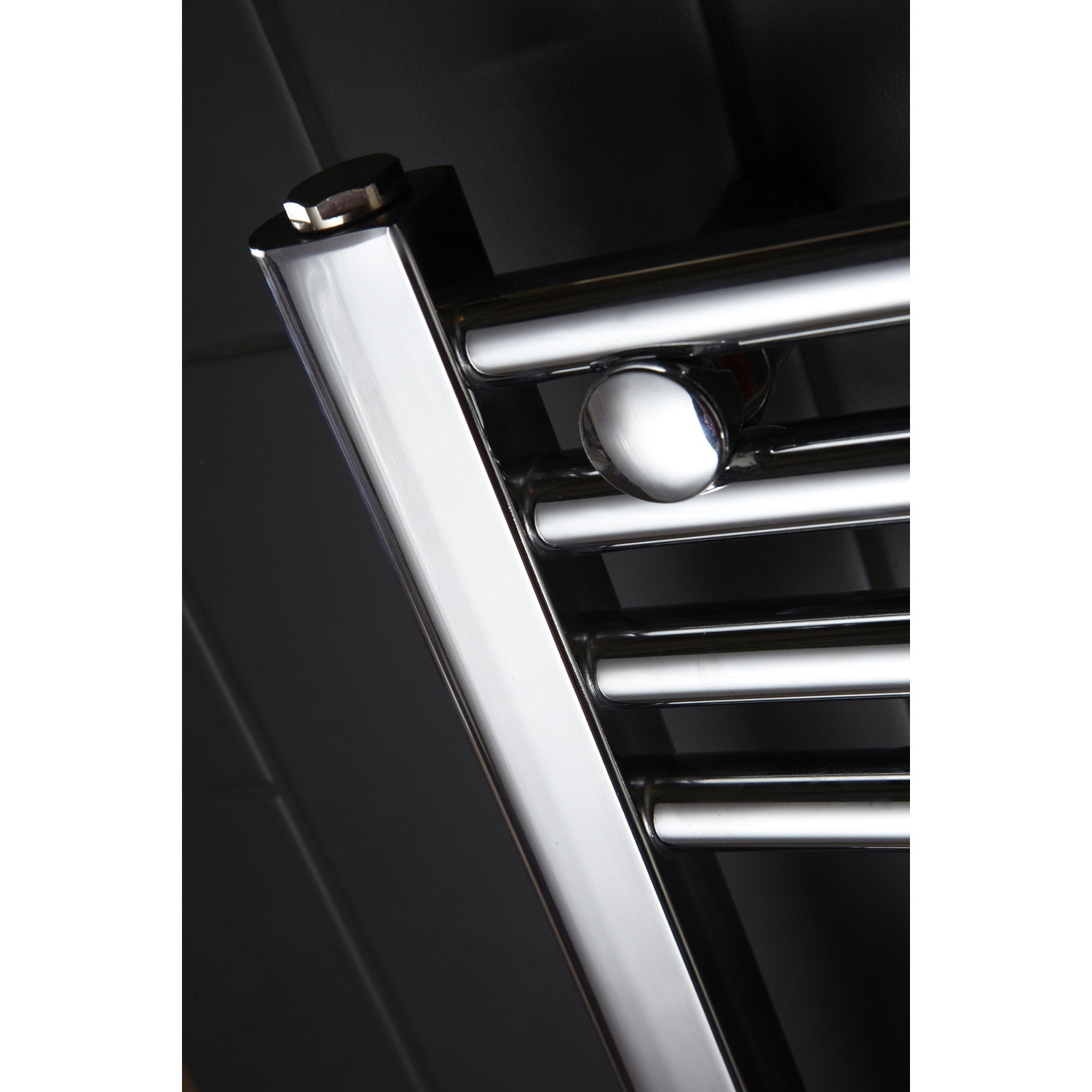 Verona Flat Designer Heated Towel Rail 1100mm H x 600mm W Chrome-0