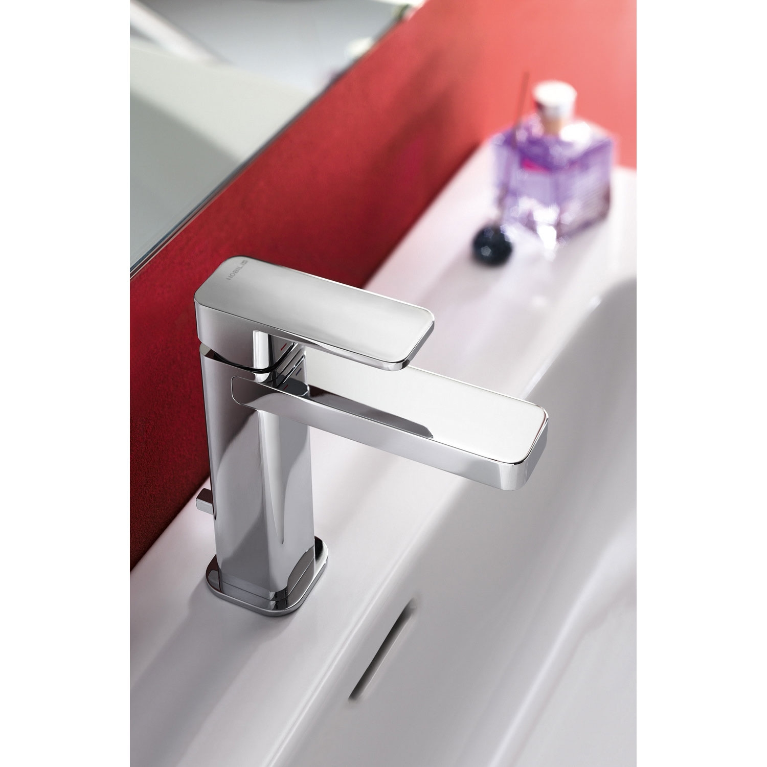 Verona Loop Mono Basin Mixer Tap with Pop-Up Waste - Chrome