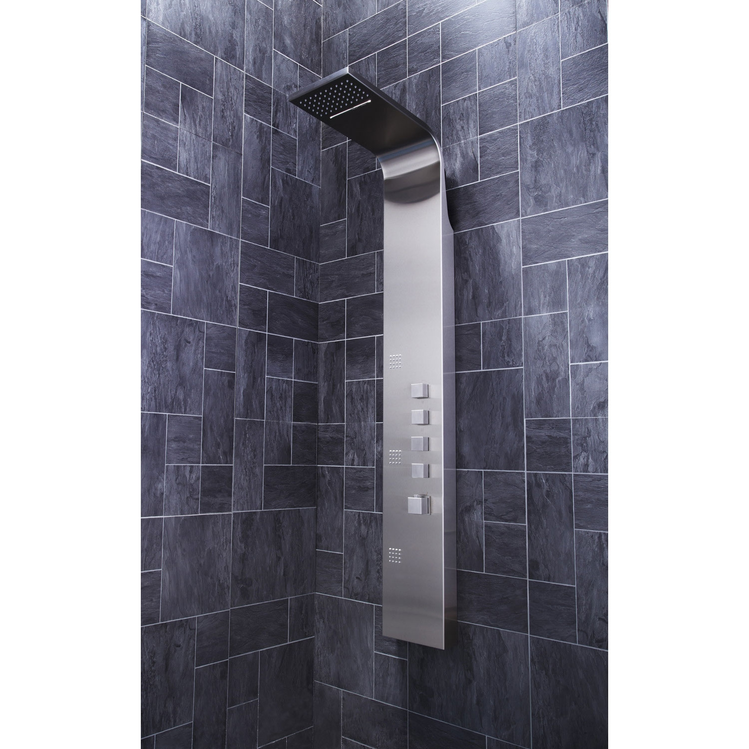 Verona Losan Thermostatic Shower Panel 3 Built-in Body Jets with Shower Hand