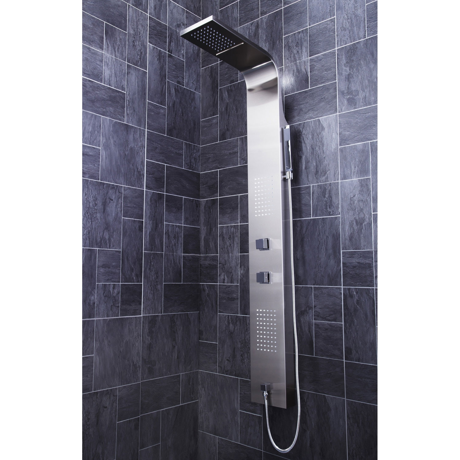 Verona Modo Thermostatic Shower Panel 2 Built-in Body Jets with Shower Hand-0