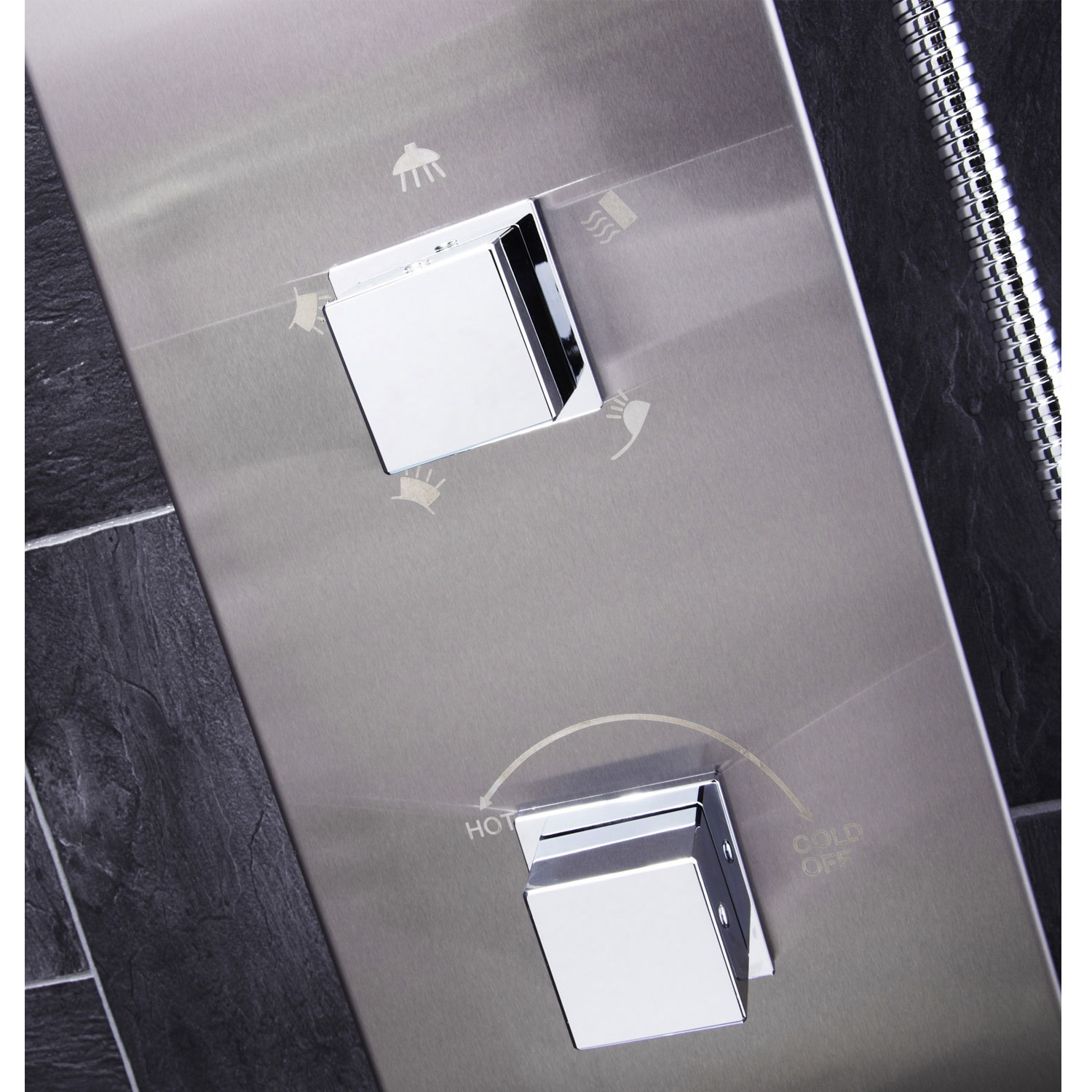 Verona Modo Thermostatic Shower Panel 2 Built-in Body Jets with Shower Hand-4