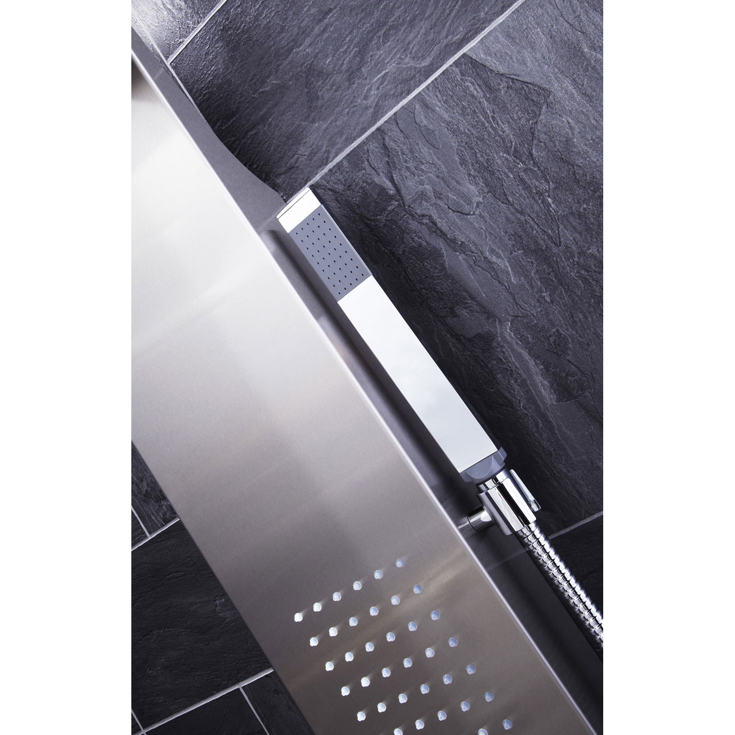 Verona Modo Thermostatic Shower Panel 2 Built-in Body Jets with Shower Hand-5