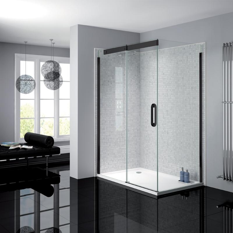 Verona Prestige2 Sliding Shower Door 1200mm Wide Left Handed - 8mm Clear Glass-0