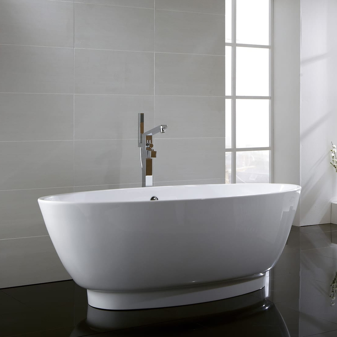 Verona Pure Freestanding Double Ended Bath 1785mm x 775mm - White