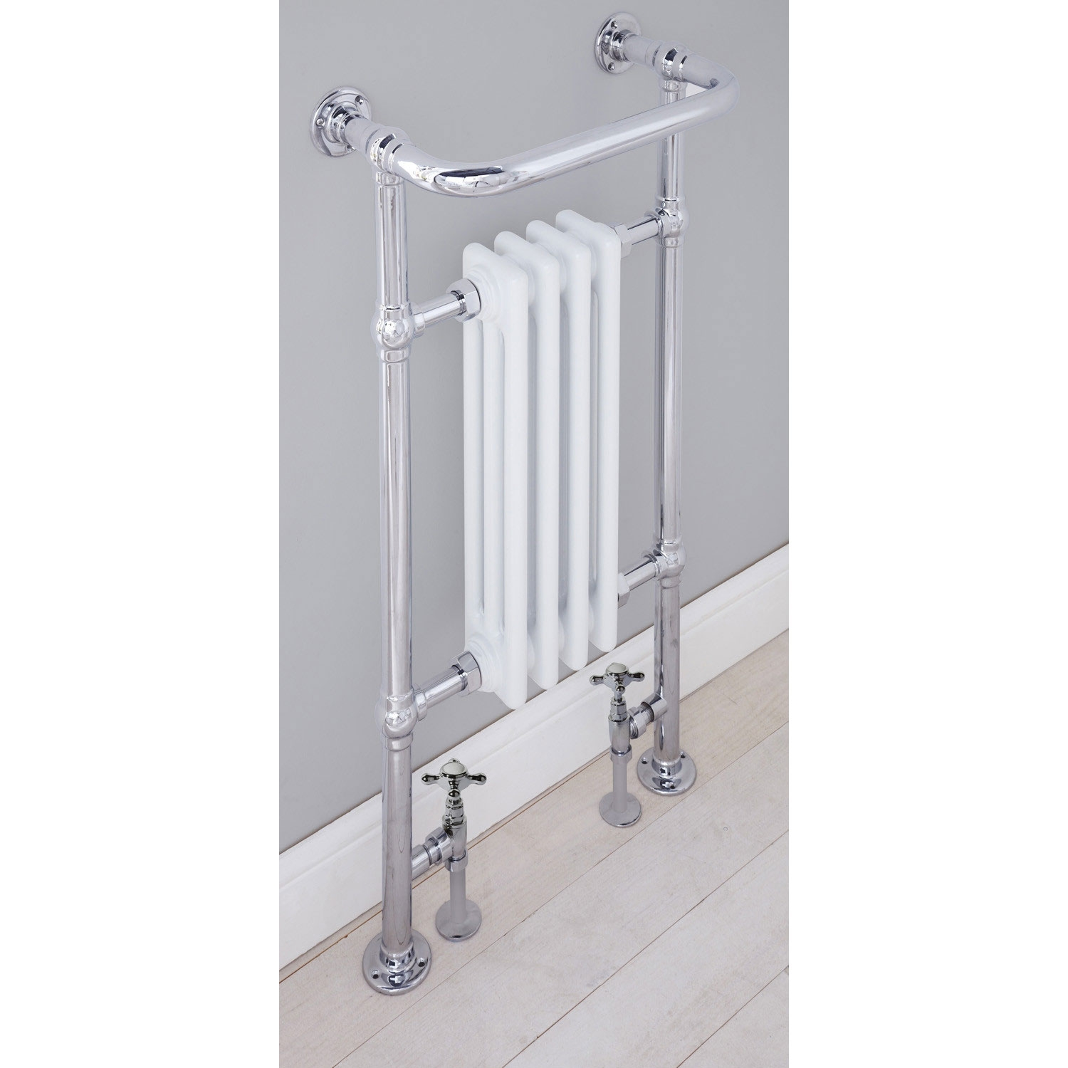 Verona Radley Traditional Heated Towel Rail 963mm H x 493mm W Chrome-1