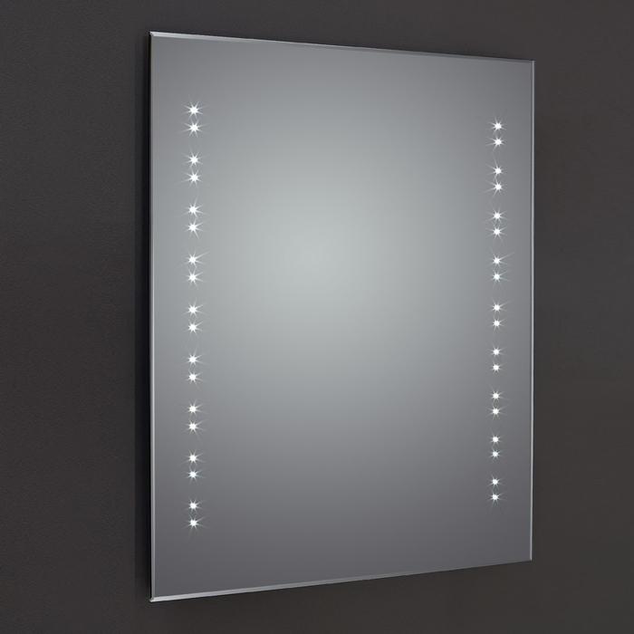 Verona Reflection Beveled Bathroom Mirror 700mm H x 500mm W LED Illuminated