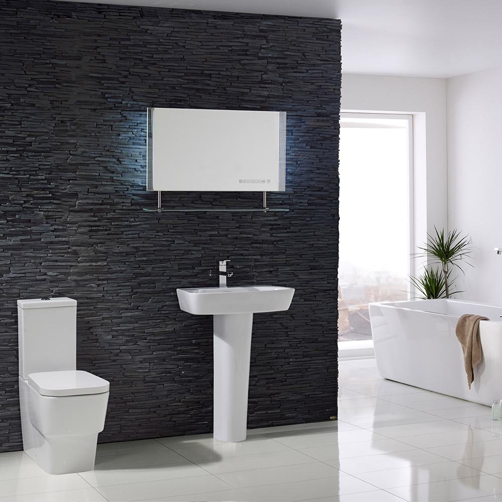 Verona Reflection Beveled Bathroom Mirror 800mm H x 600mm W LED Illuminated