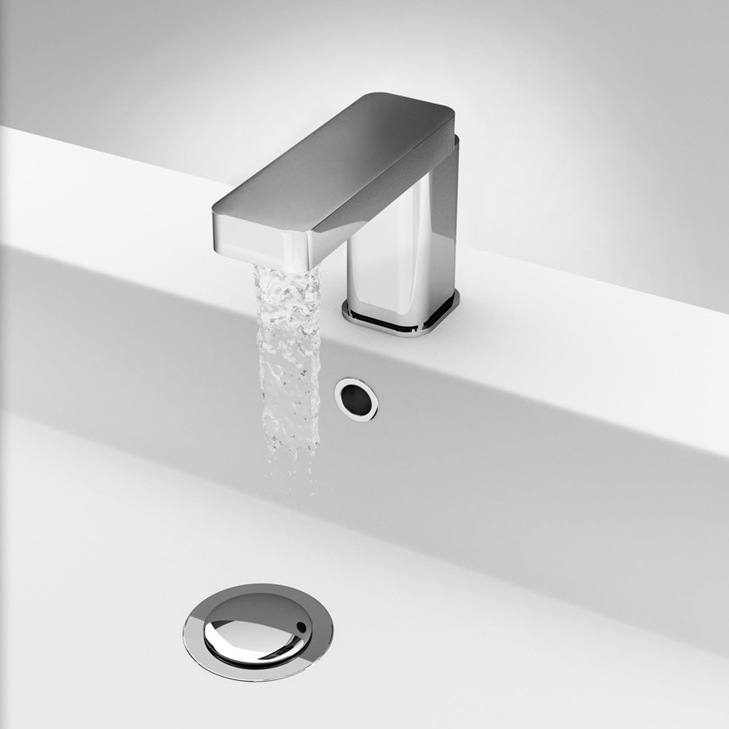 Verona Slyde Mono Basin Mixer Tap with Pop-Up Waste - Chrome-3