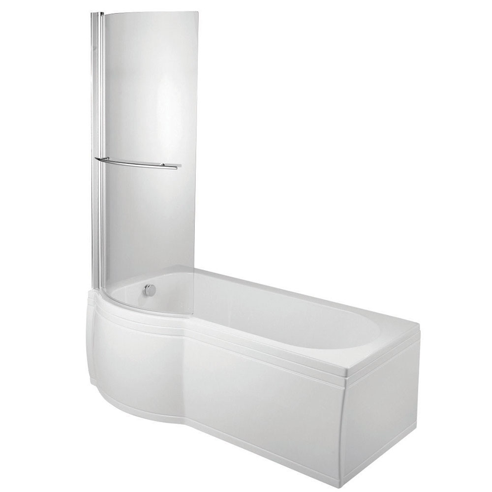 Verona Space Complete P-Shaped Shower Bath 1700mm x 700mm/750mm - Left Handed