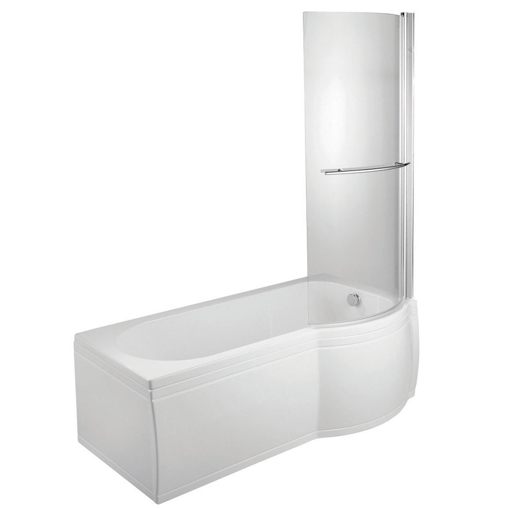 Verona Space Complete P-Shaped Shower Bath 1700mm x 700mm/750mm - Right Handed