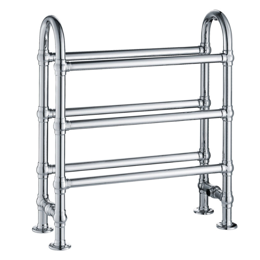 Verona State Traditional Heated Towel Rail 778mm H x 683mm W Chrome
