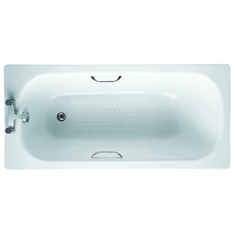 Verona Aquabathe Single Ended Rectangular Antislip Bath 1700mm x 700mm - Drilled Grip Hole