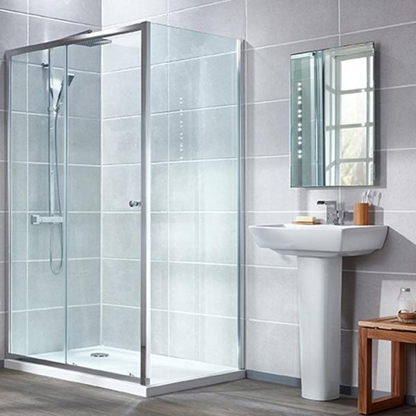 Verona Uno Universal Side Panel, 760mm Wide, 6mm Glass