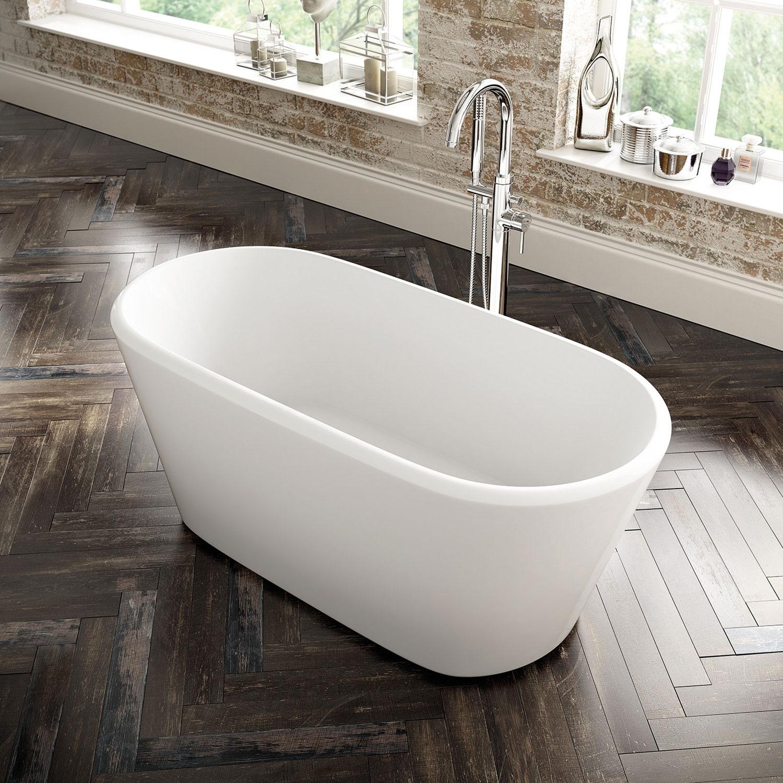 Verona Zenith Freestanding Double Ended Bath 1500mm x 700mm - White-0