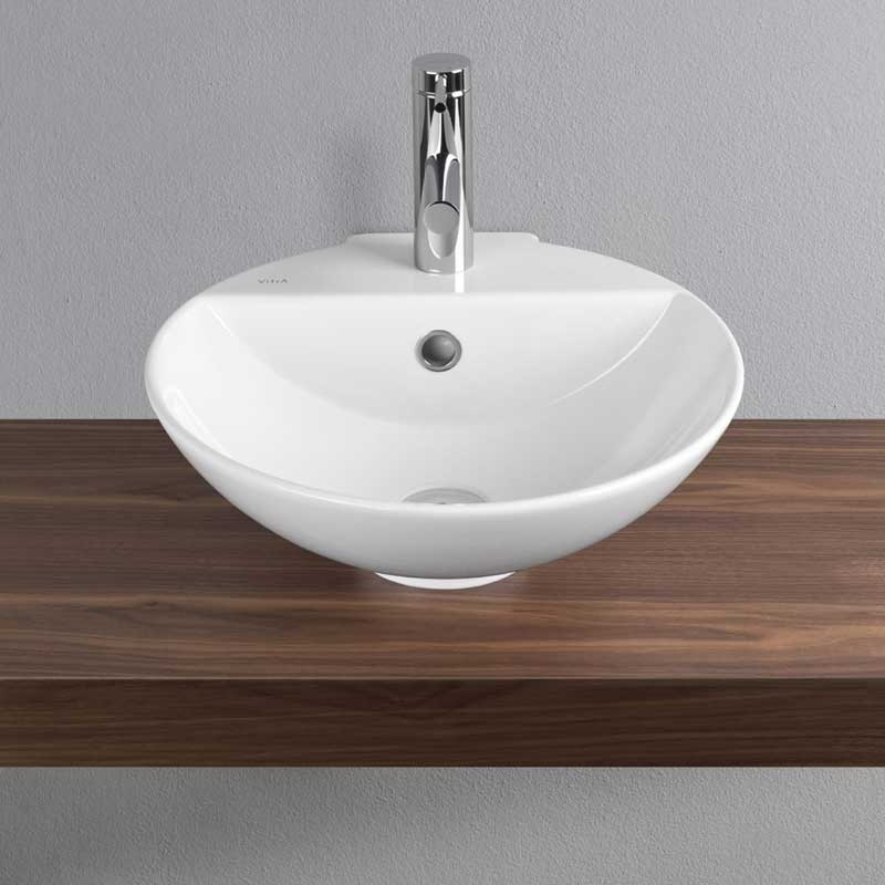 Vitra Arkitekt Countertop Basin 455mm Wide 1 Tap Hole