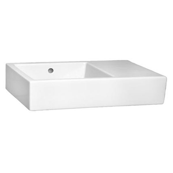 Vitra Arkitekt Basin 600mm Wide x 400mm Deep 0 Tap Hole