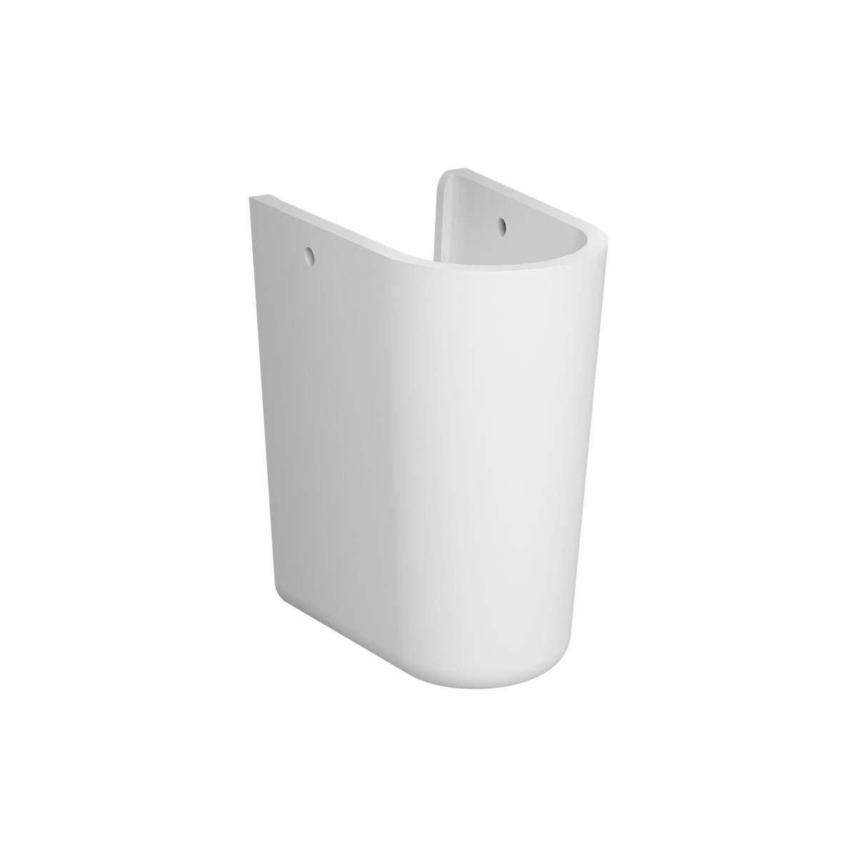 Vitra Layton 450mm Cloakroom Basin and Small Semi Pedestal 1 Tap Hole