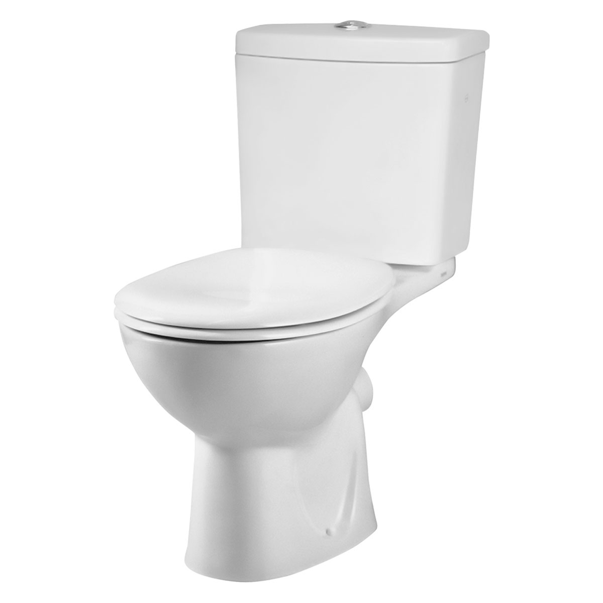 VitrA Layton Cloakroom Suite Close Coupled Toilet 2 Tap Hole Basin-1