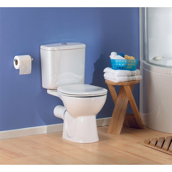 VitrA Layton Cloakroom Suite Close Coupled Toilet 2 Tap Hole Basin-2