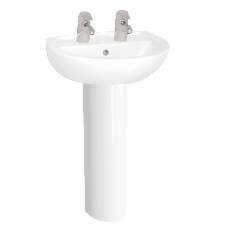 VitrA Layton Value Suite Close Coupled Toilet 2 Tap Hole Basin-0